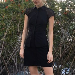armani button up dress